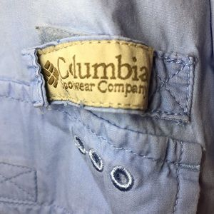 Men's 3X Columbia baby blue shirt